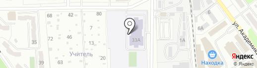 Средняя общеобразовательная школа №21 на карте Миасса