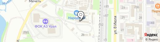 Василиса на карте Миасса