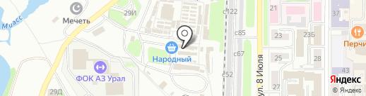 Магазин строительных материалов на карте Миасса