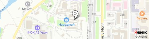 Эконом-мебель на карте Миасса