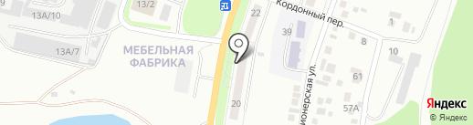 Почтовое отделение №3 на карте Миасса