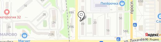 Бульдорс на карте Миасса