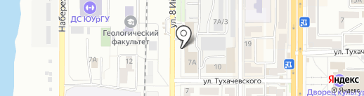 Арка на карте Миасса