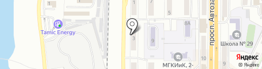 Автомобиль на карте Миасса