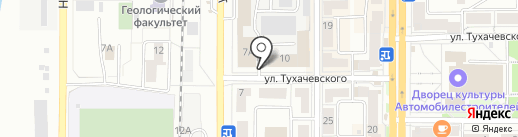 Автостоянка на ул. Калинина на карте Миасса
