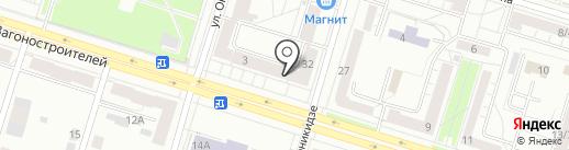Магазин трикотажа на карте Нижнего Тагила