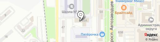 СДЮСШОР по легкой атлетике на карте Миасса