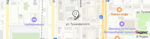 Центр судебной экспертизы на карте Миасса