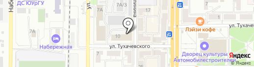 Тенториум на карте Миасса