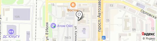 Оптик-Сфера на карте Миасса