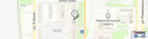 Зяка на карте Миасса