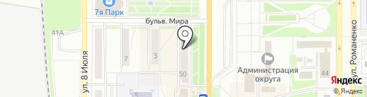 Магазин часов на карте Миасса