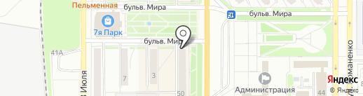 Сеть платежных терминалов на карте Миасса