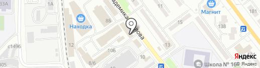Владомир на карте Миасса