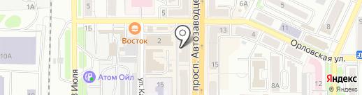 Банкомат, ИКБ СОВКОМБАНК на карте Миасса