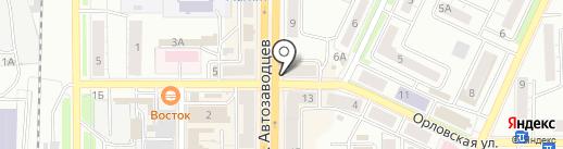 АК Барс банк, ПАО на карте Миасса