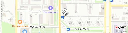 Коммунальщик-Лифт на карте Миасса