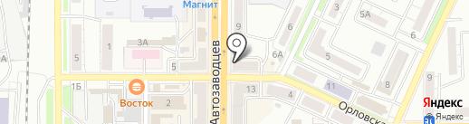 Банкомат, АК БАРС БАНК на карте Миасса