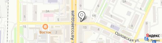 Домашний, КПК на карте Миасса