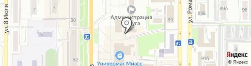 Уральский финансово-промышленный холдинг на карте Миасса