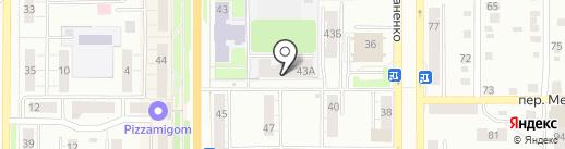 Омега на карте Миасса