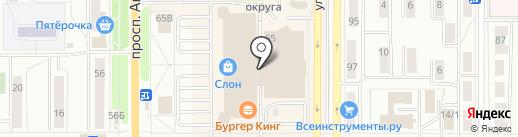 Котофей на карте Миасса