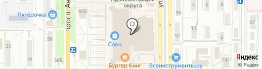Интерсвязь на карте Миасса