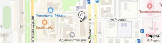 Лавка декоратора на карте Миасса