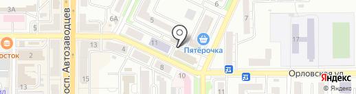 Печка на карте Миасса