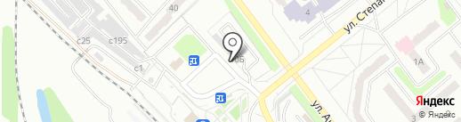 У Вокзала на карте Миасса