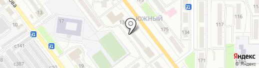 Бригантина на карте Миасса