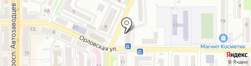 Алёнка на карте Миасса