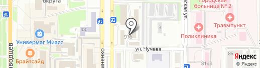 Самурай на карте Миасса