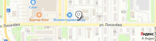 Крепежка на карте Миасса