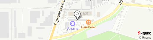 Тарком на карте Миасса