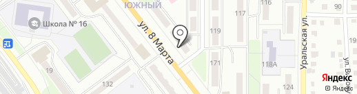Кадастровый инженер Бозова О.В. на карте Миасса