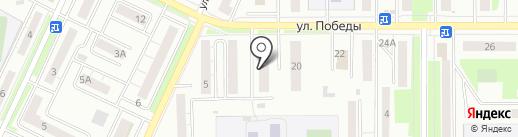 Во дворе на карте Миасса