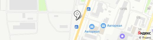 Продуктовый киоск на карте Миасса