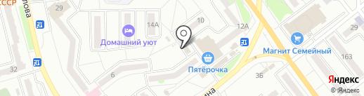 Ульянов & Fresh на карте Миасса