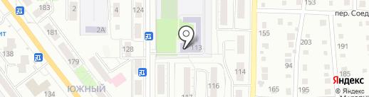 Средняя общеобразовательная школа №44 на карте Миасса