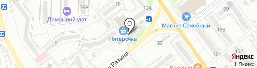 Магазин одежды на карте Миасса