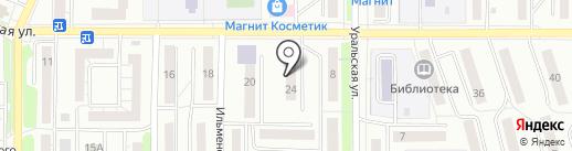 Орловский на карте Миасса