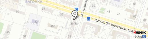 Свердловский областной кожно-венерологический диспансер на карте Нижнего Тагила