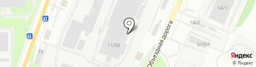 Миасский конвейерный завод №1 на карте Миасса