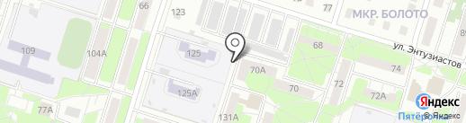 Станция юных техников №2 на карте Нижнего Тагила