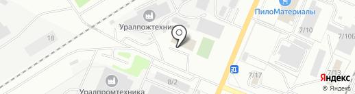 Пожарнo-спасательная часть №47 на карте Миасса