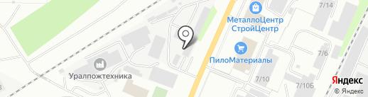 Созвездие на карте Миасса
