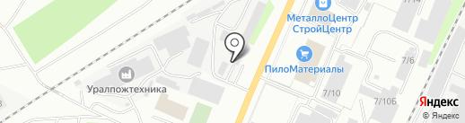 Транс-вектор на карте Миасса