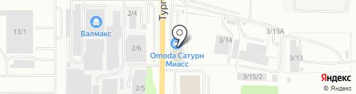 АГЗС Кембри на карте Миасса