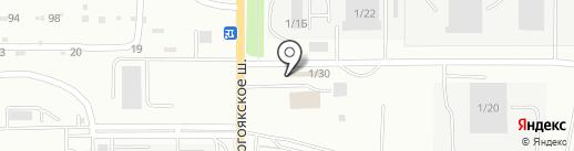 Магазин электротоваров на карте Миасса